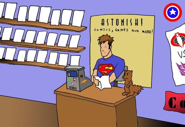 comic shop full color copy
